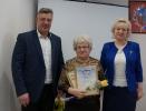 вручение Благодарственного письма и Диплома 1-й степени за победу на форуме «Идея 2020» руководителю  Совета пенсионеров С.В. Калашниковой