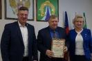 вручение Благодарственного письма руководителю Совета отцов В.Н. Карташеву