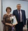 вручение Приветственного адреса с Днем рождения ведущему специалисту Администрации района Л.В. Ланцевой