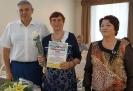 Вручение Приветственного адреса с Днем рождения ветерану Тальменского поселкового совета А.Н. Сучковой