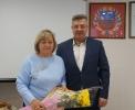 вручение Приветственного адреса с Днем рождения депутату райСовета, индивидуальному предпринимателю Г.Г. Щвец