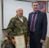 вручение Приветственного адреса с Днем рождения заслуженному  ветерану Тальменского района Е.Д. Дорохову