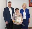 вручение Благодарственного письма за вклад в развитие общественного потенциала муниципалитета К.П. Наренковой