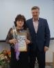 вручение Приветственного адреса с Днем рождения заведующему МКДОУ «Тальменский детский сад № 9»