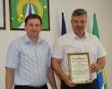 Вручение Приветственного адреса с Днем рождения заместителю главы Администрации по оперативному управлению И.А.Щербакову