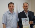Вручение Приветственного адреса с Днем рождения начальнику ГО и ЧС администрации Тальменского района П.М. Зенкову