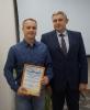Вручение Почетной грамоты  за многолетний и добросовестный труд и в связи с Днем энергетика В.М. Склярову