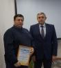 Вручение Почетной грамоты  за многолетний и добросовестный труд и в связи с Днем энергетика С.М. Склярову